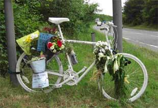 TRAGEDY: A memorial on the stretch of the Wareham bypass close to where Rob Jefferies died. Picture: Robin Boultwood.