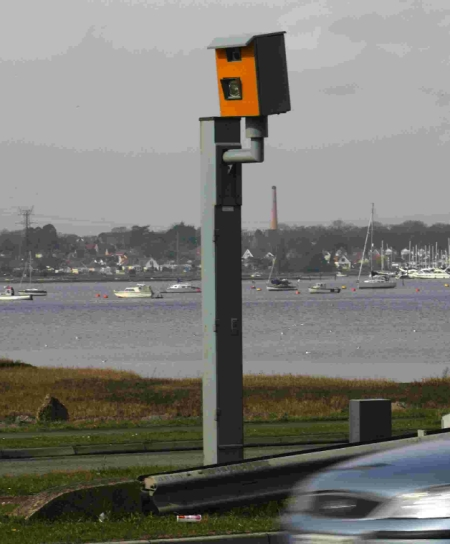 Traffic camera on Holes Bay Road