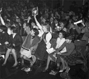 Fans at the Winter Gardens watch The Beatles