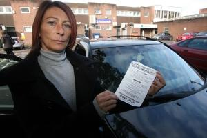 SO ANGRY: Amanda White with the ticket she was issued
