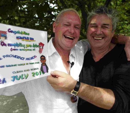 Paul Gascoigne with CEO and founder of The Providence Project Steven Spiegel