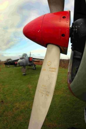 ON SHOW: Aircraft on display  at  Bournemouth Aviation Museum at Hurn