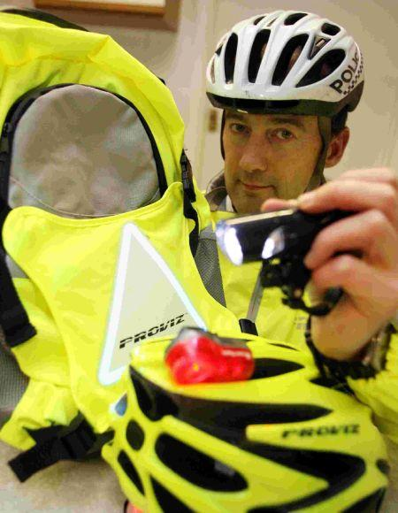 PC Hammond with the reflective gear