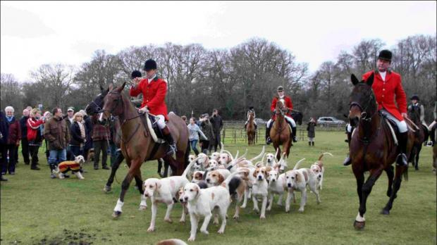 New Forest Hounds stage their traditional Boxing Day hunt from the Balmer Lawn Hotel in Brockenhurst