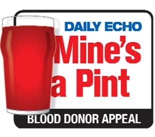Bournemouth Echo: Mine's a Pint: Join our blood donor campaign and help save lives