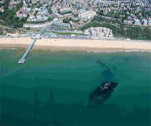 VIEWS: Boscombe Beach and Surf Reef. Picture: Gary Ellson  Bournemouth Helicopters