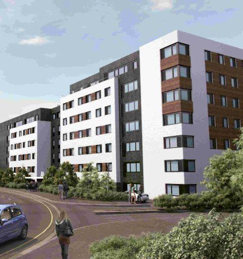 An Artists Impression Of Early Ideas From The Bournemouth Development Company For Student Housing In Madeira