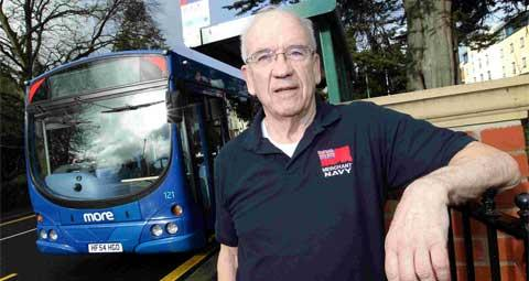 NOT SO FAST: Robert Readman was stopped from getting on a Wilts and Dorset bus after a lady spilt her coffee – the driver ordered everyone off the vehicle saying it was a safety hazard. Picture: Sally Adams