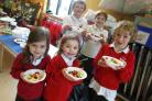 DELICIOUS: Children at Pamphill First School take part in The Big Cookathon