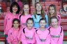 Branksome Heath Middle School's girl's football team in their new kit