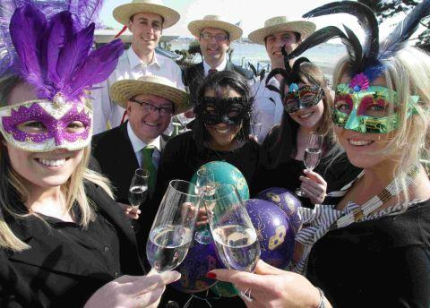 NICE TO BE MASKED: The launch of the 2012 Christchurch Food and Wine Festival Venetian Masquerade Ball