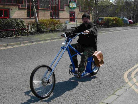 INSPIRED: Nigel Bryant built an electric bicycle