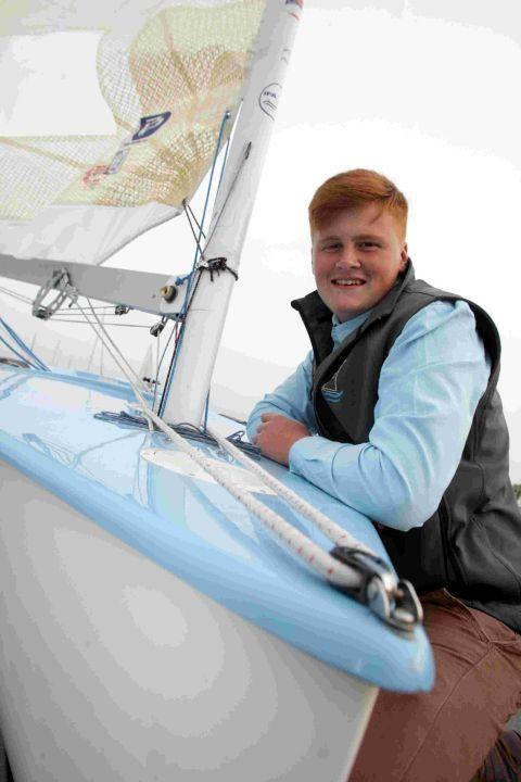SOME FINN GOOD: Jack Arnell, 14, who will be racing in the Finn Gold Cup at Falmouth
