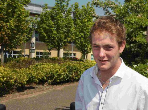 Bournemouth Echo: Darcy Ward speaks outside court