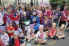 The pupils at Cranborne First School celebrate the Diamond Jubilee