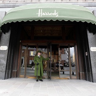 Model opens Harrods summer sale