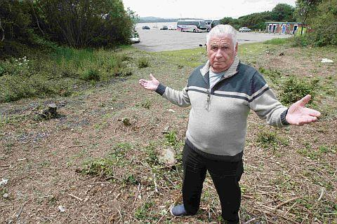 HABITAT: Eddie Groves who is angry about a protected area at Ham Common in Hamworthy being cleared