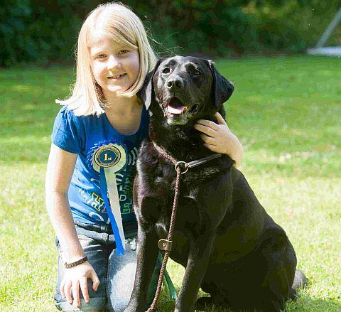 Ella Bardsley, 10, with dog Jack, with whom she won a dog-handling prize at Sherborne County Show