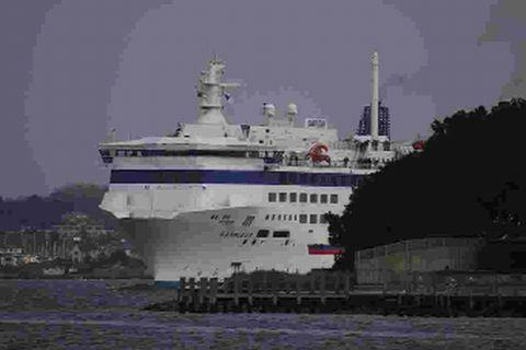 GUESS WHO'S BACK: The Barfleur ferry is returning to Poole on March 18 after a paint and clean in Dunkirk. The ship will resume its cross channel journey from Poole to Cherbourg