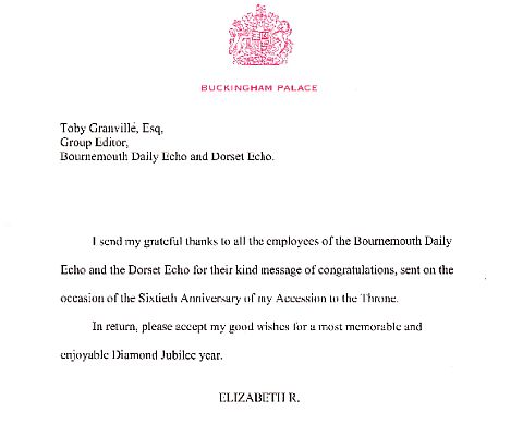 The Queen's letter