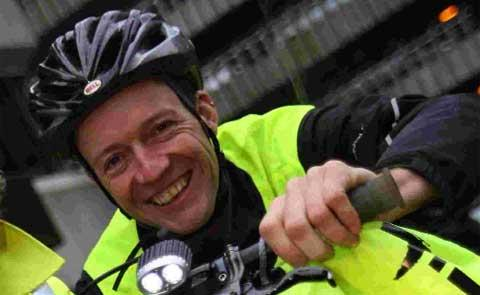 Cyclist Jason Falconer, who nearly lost his life in a road accident at Constitution Hill