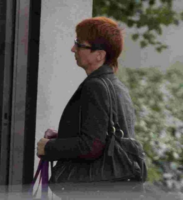 Jolanta Szczap arrives at Bournemouth Crown Court