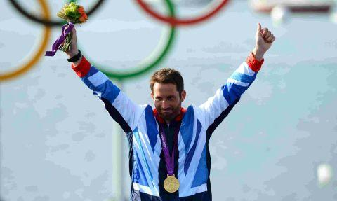 Ben Ainslie with his gold medal