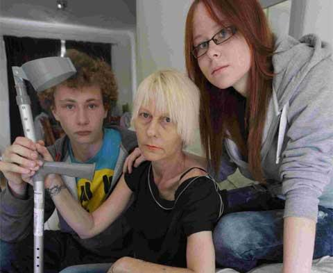 APPEAL: Susan Sheppard, centre, with her twin children Millie and Charlie. Picture: Corin Messer