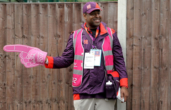 HELPING HAND: Volunteers have been key to the Games' success