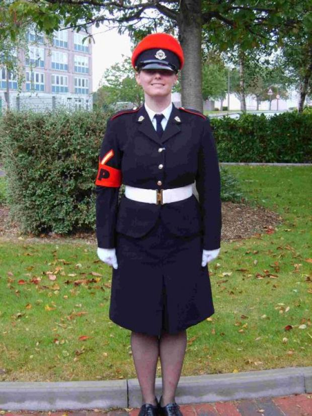 'NERVOUS WRECK': Royal Military Policewoman Anne-Marie Ellement in uniform