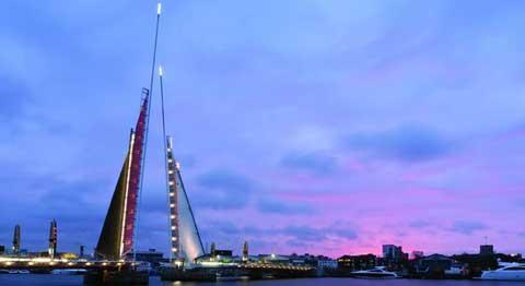 Bournemouth Echo: Controversial Twin Sails Bridge shotlisted for structural award