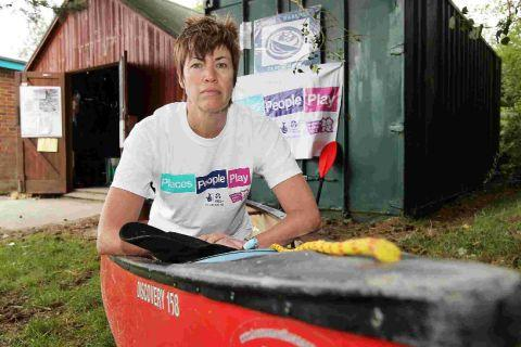 REASSURANCE: Poole Harbour Canoe Club spokeswoman Sally Crawford outside the existing club hut in Hamworthy
