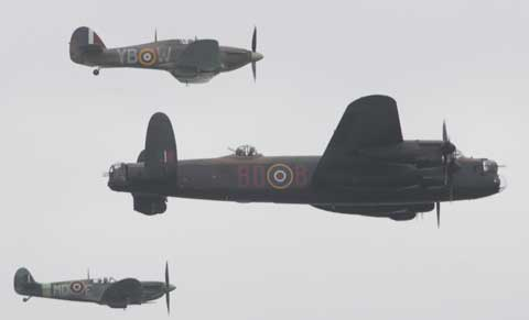 Battle of Britain Memorial Flight. Picture by Corin Messer.