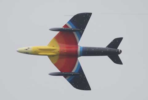 Miss Demeanour Hunter jet. Bournemouth Air Festival 2012. Picture by Corin Messer.
