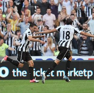Hatem Ben Arfa, left, got Newcastle's equaliser
