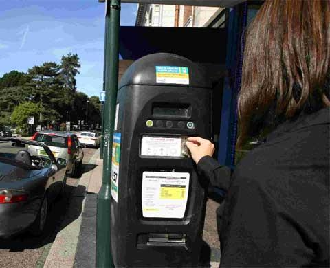 PAY AND DISPLAY? Parking meter in Westover Road, Bournemouth. Picture: Richard Crease