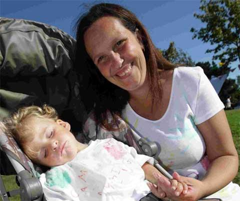 AMAZING: Claire Chissell and son Tommy, three, launch Camp Amazing with a coffee afternoon at St Paul's church hall at Canford Heath