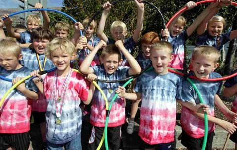 Bournemouth Echo: IN THE RINGS: Burton Scout Group Cubs at the 2012 Burton annual Scout Carnival. Picture by Corin Messer