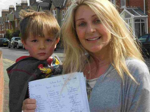 CAMPAIGN: Hannah Lammiman and son Dylan, three, with her petition