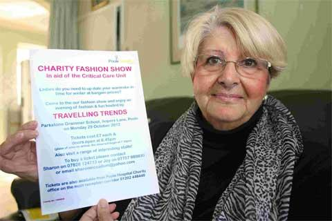 RECOVERED: Joy Marston, who is holding a fashion show to raise funds for Poole Hospital critical care unit