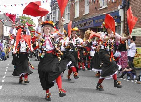 DANCING IN THE STREET:  Wimborne Folk Festival attracts around 25,000 people over three days