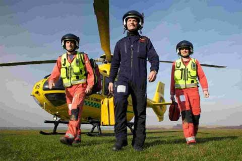 VITAL WORK: A Dorset and Somerset Air Ambulance crew