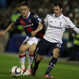PROUD TO PLAY: AFC Bournemouth's Adam Smith (right) pictured during his time at Tottenham Hotspur