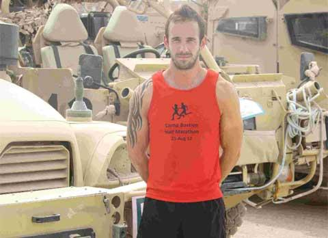 STANDING TALL: Iain Trickett completed a charity ultra marathon at Camp Bastion