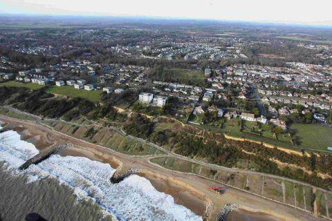 HIGHCLIFFE APPROVES: An aerial shot of the district, which is home to more over-65s than any other part of the nation