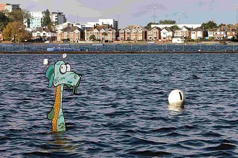 Bournemouth Echo: Loch Ness monster found - in Poole Park lake