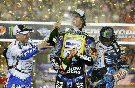 GLORY: Chris Holder on top of the podium in Torun