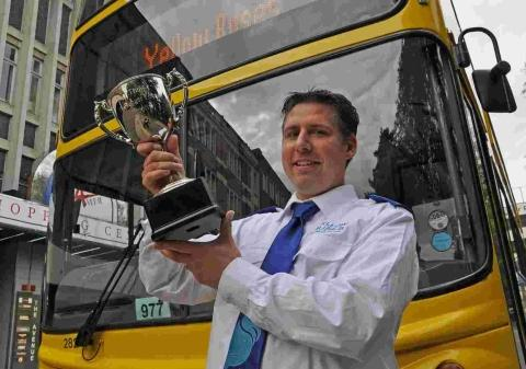 Double celebration for bus driver