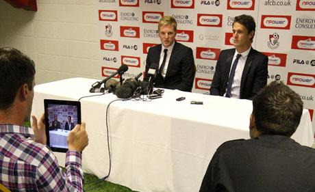 BRIEFING: Eddie Howe and Jason Tindall talk to the media on Saturday