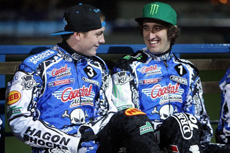 CHAMPIONS: Darcy Ward (left) and Chris Holder